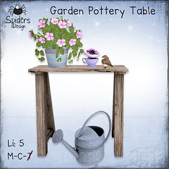 Garden Pottery Table (Spinnetje Jewell) Tags: garden outdoor furniture secondlife decor pottingtable