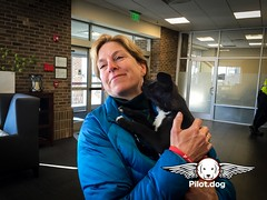 In-flight volunteer, Kathy Phelan, meets one of our puppy passengers on our rescue flight from Greensboro, NC to NYC. Love and kisses all around. Big thanks to Mr. Bones and Company for arranging this rescue. Please join us in our efforts to save dogs. Vi (Pilot.Dog) Tags: rescue dog dogs aviation pilot pilotdog