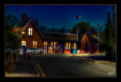 Homeward Bound (A Digital Artist) Tags: building architecture cheshire northwest railwaystation hdr widnes canon1855mm railwaylines kevinwalker widnesnorthstation