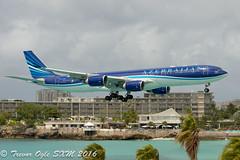 DSC_6267Pwm (T.O. Images) Tags: beach st airport princess bangalore azerbaijan airbus juliana airlines maho maarten sxm a340 a340500 4kaz85