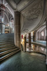 ...Circulare... (Hitman.47 (BuriedDreams.nl)) Tags: old windows colour green castle beautiful architecture fairytale stairs mirror hall stair flickr cathedral exploring great columns engineering palace forbidden explore artnouveau atrium imaginary grandeur symmetrie