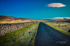 A road to nowhere (tbnate) Tags: road sky nature wall clouds landscape outside nikon outdoor yorkshire northyorkshire yorkshiredales thedales d5100 nikond5100 tbnate