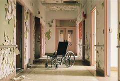 Abandoned NY State Hospital (FWDPhotography) Tags: newyork abandoned film hospital photography photo nikon photographer kodak decay urbandecay wheelchair hallway explore urbanexploration f 400 portra derelict urbex