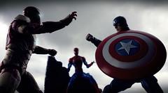 friend or foe? (freshpdda) Tags: toys comic spiderman ironman civilwar figure marvel captainamerica