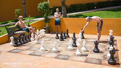Chess (Junshen Wang) Tags: leica white black fashion yellow relax mexico chess sunny guys exotic mens cabosanlucas
