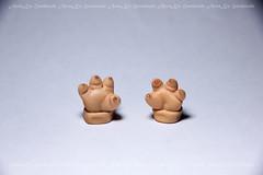 Pukisha left paw sculpting (AnnaZu) Tags: paw doll makeup tiny restoration commission fairyland blushing sculpting faceup pukisha pukifee annaku annazu