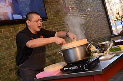 Chef Alex Ong 4/19-4/20/16 (UMassDining) Tags: cooking alex demo chef presentation guest steamer ong berk