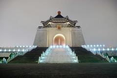 Chiang Kai-shek Memorial Hall, Taipei, Taiwan  (runslikethewind83) Tags: light building night hall memorial asia pentax taiwan structure taipei  chiang   kaishek 2016