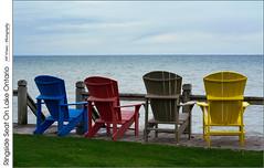 Ringside Seat On Lake Ontario (jwvraets) Tags: nikon waterfront chairs gimp lakeontario opensource muskokachairs nikkor50mmf18d d7100 rawtherapee