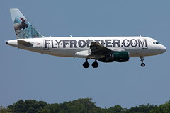 """N954FR - Frontier Airbus A319 """"Mickey the Moose"""" (AndrewC75) Tags: atlanta animal airplane airport atl aircraft aviation jet twin moose mickey jackson international airline airbus frontier airliner hartsfield a319 319"""