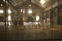 behind the curtain (Val in Sydney) Tags: art artwork sydney australia nsw biennale redfern australie carriageworks
