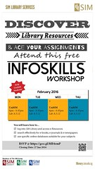 InfoSkills-UniSIM-Jan16 (lenny.essni) Tags: library ace free workshop assignments resources discover attend infoskills