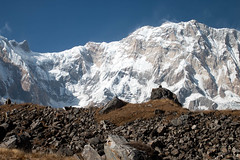 Annapurna II (Pooja Pant) Tags: nepal mountains beautiful trek abc annapurna annapurnabasecamp macchapuchre
