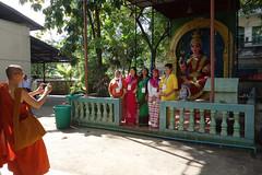 Interfaith group at Hindu Temple, Pansodan Road (judithbluepool) Tags: yangon burma myanmar hindutemple rangoon buddhistmonk muslimwomen pansodan durgashrine