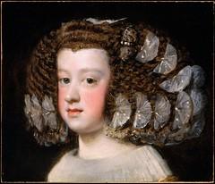 Maria Teresa, Infanta of Spain, 1651-1654 // by Diego Velazquez (mike catalonian) Tags: portrait face female painting spain baroque velazquez 1654 1651 1650s xviicentury