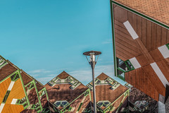 Helmond City (_michelwalbeek_) Tags: street city house building kubuswoning cubehouse helmond paalwoning