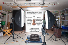 DSC_2742A-Violin-On-White-SETUP (PryanksterDave (Dave Price)) Tags: violin fiddle setup 2016 pirateflag strobist lightingessentials