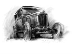 Model A Ford (Stefan Marjoram) Tags: auto art ford car modela sketch drawing pro procreate ipad