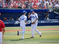 投手交代(山口→小杉) / Yokohama Stadium (zaki.hmkc) Tags: baseball 投手 選手 山口俊 小杉陽太 横浜denaベイスターズbaystars