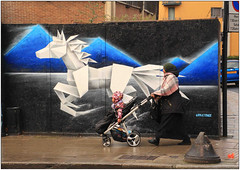 London Street Art (Mabacam) Tags: horse streetart london wall graffiti stencil mural origami wallart urbanart shoreditch freehand publicart aerosolart stallion whitehorse spraycanart stencilling eastend 2016 urbanwall annatomix