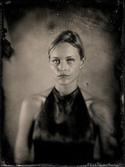 Romy with vietnamese dress 3 (patrickvandenbranden) Tags: portrait bw woman beauty dress noiretblanc bokeh fineart 8x10 ambrotype wetplate largeformat 18x24 10sec alternativeprocess 10inch collodion pictorialist procdalternatif hermagis collodionhumide