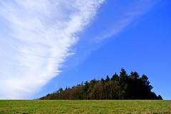 Linien - Lines (ivlys) Tags: wood sky cloud nature germany landscape deutschland hessen meadow wiese himmel wolke landschaft wald allemagne odenwald ivlys hutzelstrase