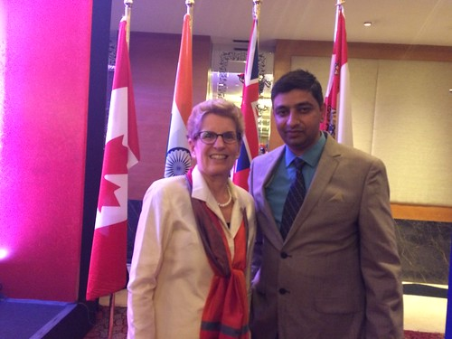 The Honourable Premier of Ontario Canada  Ms Kathleen Wynne and Mr. Gurvinder Kang