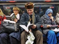 Cat In The Hat (Douguerreotype) Tags: city uk england people urban london train underground subway metro britain candid tube gb british