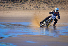 Sand Racing (Grand-Poobar) Tags: summer people mountain man motion blur male men green beach nature bike bicycle sport danger race speed fun outdoors cycling jump jumping healthy movement break cyclist hand view ride exercise arm mud action background extreme helmet young mountainbike lifestyle racing dirty course adventure dirt riding cycle biking mtb biker leisure brake concept activity sporty active braking mablethorpe subjective