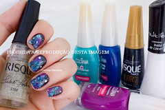 Galaxy Nails [Janeiro Humildão] (Cinthia Emerich) Tags: star nail nailpolish tutorial galaxia risque nailart nailvarnish unha nailenamel esmalte colorama naillacquer boleador passoapasso esponjado quadradoazul noitequente vult baladecoco maxicolar miragemazul galaxynail