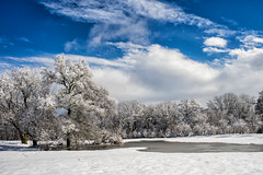 Winter returns (sevemiller) Tags: snow nature newjersey southmountainreservation zeiss25f28zf