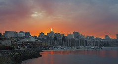 One of winter evening - false creek (yuanxizhou) Tags: ocean sunset sky canon falsecreek olympicvillage vancouverdowntown beautifulbc vancouverphotography bestsunsetphotos vancouverolimpik