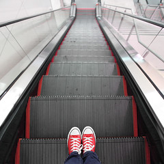 De-escalate (YetAnotherLisa) Tags: portrait stairs self elevator escalator converse 365 chucks fromwhereistand day24366 366the2016edition 3662016 yetanotherlisa2016 24jan16