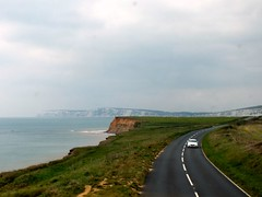 Military Road (Waterford_Man) Tags: road sea grass chalk path coastal isleofwight chale whitecliffs militaryroad