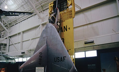 54-1620. Ryan X-13 Vertijet (Ayronautica) Tags: museum march aviation military scanned 1992 unitedstatesairforce usafmuseum wrightpattersonafb ryanx13vertijet 541620 ayronautica