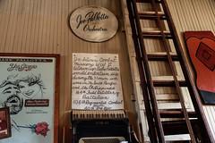 Babe Pallotta Orchestra sign (Walt Barnes) Tags: ca history museum canon vintage eos calif sp crockett topaz southernpacific traindepot 60d canoneos60d eos60d topazclarity crocketthistoricalmuseum topazinfocus wdbones99 joepallottta babepallotta