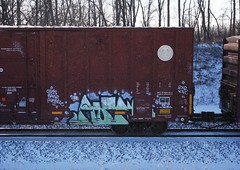 Aunr (quiet-silence) Tags: railroad art train graffiti zee railcar kfc boxcar ora graff freight bnsf fr8 aunr bnsf761396