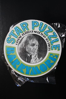 Barrymore Star Puzzle Label (1967)