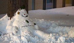 The Laziest Snowman (John Bense) Tags: winter snow cold weather frozen snowman sitting outdoor lazy freeze sit