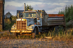 Maybe today......... (Paul Rioux) Tags: old truck rust industrial decay dumptruck forgotten commercial transportation vehicle rusting discarded derelict decayed decaying gravel kenworth
