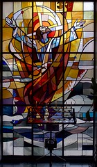 Crucifixion (IanAWood) Tags: urban 1991 stpancras churchwindows londonchurches contemporarystainedglasswindows walkingwithmynikon goddardgibbs lbofcamden nikkorafs28mmf18g nikondf staloysslusromancatholicchurch