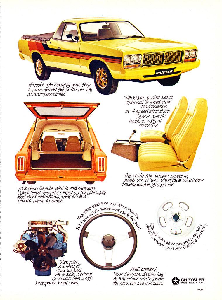 4abbec4326 1978 CL Chrysler Drirfter Ute Panel Van Aussie Original Magazine  Advertisement (Darren Marlow) Tags