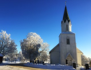 iphone6+ Winter by the country church. Kråkstad SE of Oslo, Norway