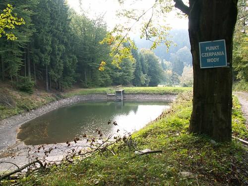 Punkt czerpania wody nad Polaną nad Skrzynką