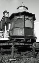 Brighton Pier 1 (Song-to-the-Siren) Tags: blackandwhite bw 35mm 35mmfilm 100 pan analogue ilford compactcamera classiccamera ricohgr1 ilfordpan100