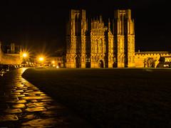 Wells Cathedral (ceeko) Tags: england cathedral unitedkingdom wells somerset floodlit 2016 olympusem5