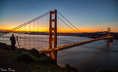 Golden Gate Bridge, San Francisco 2016 (katiewong511) Tags: sanfrancisco california travel fog sunrise bridges bicycles pacificocean cables bayarea marincounty josephstrauss vactions battary