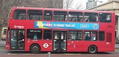 Arriva London DW580 on route 243 Waterloo 03/02/16. (Ledlon89) Tags: bus london buses transport londonbus tfl londonbuses centrallondon