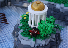 A Classical Greek Polis (Oracle) (Simon S.) Tags: city garden greek temple oracle vineyard ancient theater lego bricks troja homer polis sheperd moc herder trireme eurobricks
