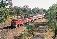087-25A 1991-08-31 4458 and 4427 on SL65 at Bargo (gunzel412) Tags: geotagged australia newsouthwales aus bargo geo:lat=3427645690 geo:lon=15057706833